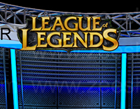 Virtual Set Design done for League of Legends on FlixTV