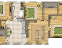 Floor plan 2D rendering in Hamden (CONNECTICUT) USA