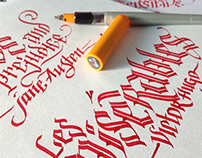 Calligraphy project- Classic Book titles