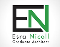 Esra Nicoll Business Card Logo