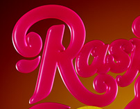 Raspberry & Lemon CGI Type