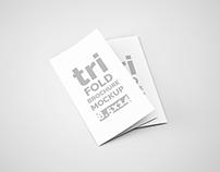 Tri-Fold Brochure Mock-Ups - 8.5x14
