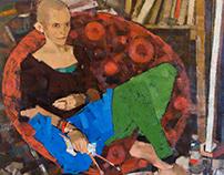 """Portrait of Vika"". Oil on canvas. 110/110 cm. 2014."