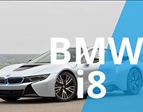 BMW i8 Landing Page
