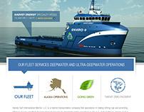 Harvey Gulf Concept Web Design / Frontend UI