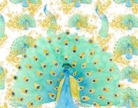 Peacock digital paper pack