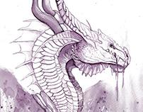 Dragon con vino