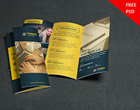 Freebies | Creative Corporate Trifold Brochure PSD