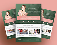 Stationery Flyer Template - Fashion Psd Flyer