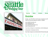 Web Design - Seattle Walking Tour (2011)