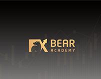 fx bear academy logo & identity - egypt