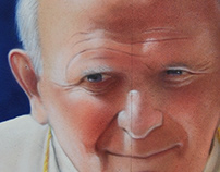 John Paul II – Spray Paint