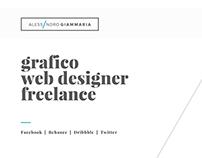 Personal portfolio designer freelance