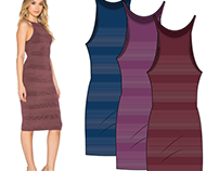 WOMEN'S DRESSES, CAD DESIGN