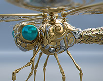 Mechanical Dragonfly for Fuzion Studio