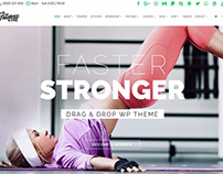 Home Banner - Fitness WordPress Theme
