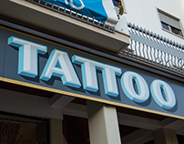 VINTAGE DAGGERS TATTOO • SIGN PAINTING