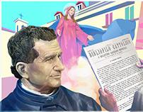 Ilustrações para Encontro Mundial do Boletim Salesiano