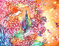 Unravel to Colors Watercolor Painting