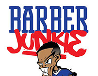 Barber Junkie Illustration