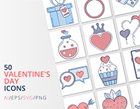 50 Valentine's Day icons