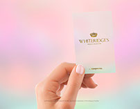 Female Hand with a Vertical Business Card Mockup