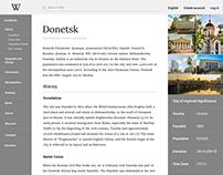 Wikipedia Redesign Concept
