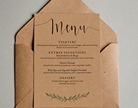 Wedding Menu Design // Typography