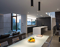 Modern kitchen in private villa, Israel