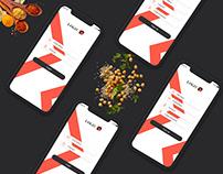 Login Mobile Food UI Kit PSD