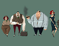 Characters for concept art