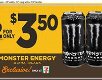 7-eleven - Monster Promo Signage