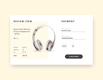 Daily UI challenge 002_credit card check out page