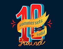 """10 sommersets on solid ground"" Typography"