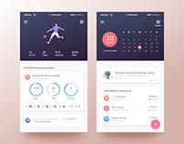 Step Counter | Pedometer Mobile App Ui Design