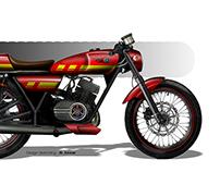 Yamaha RX100 cafe racer concept sketch