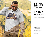 Hoodie Mock-Up in the mountains