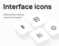 UI, Interface, Essential line icons