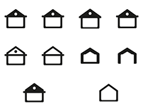 Home icon Set - Free download - SVG