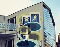 Luoghi Comuni - murales anamorfico