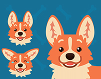 Cute Welsh Corgi Emotions.