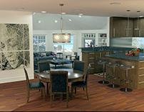 Kitchen-studio. 3D max.