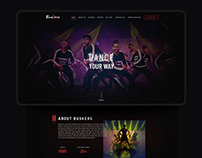 Buskers Dance Institute UI/UX