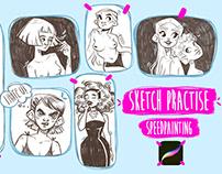 Sketch practice + video process