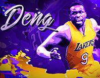"""LA Lakers: """"Color Waves"""" Open Concept"""