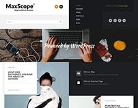 Max Scope - Business Blog & Portfolio
