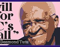 Editorial illustration - Desmond Tutu