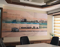 Meru Sugar Industry, Digital Wall Mural, Pune
