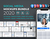 Social Media Profile Mockups Bundle 2020 - Template