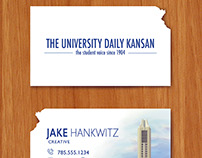 University Daily Kansan Business Cards